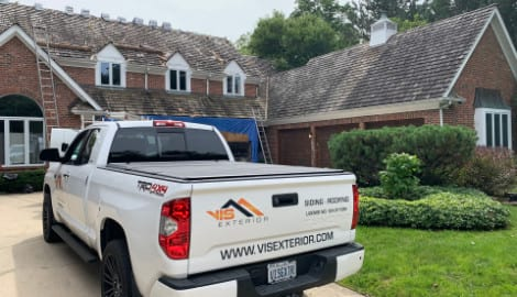 Asphalt shingle roofing and gutters replacement in Oak Brook project photo 6