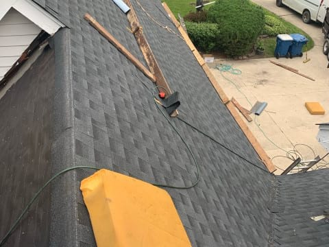 Asphalt shingle roofing and gutters replacement in Oak Brook project photo 7