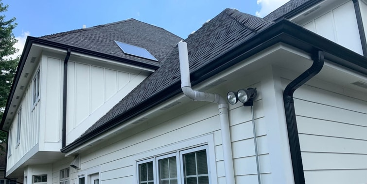 LP Smooth SmartSide siding and gutters replacement in Hinsdale, IL