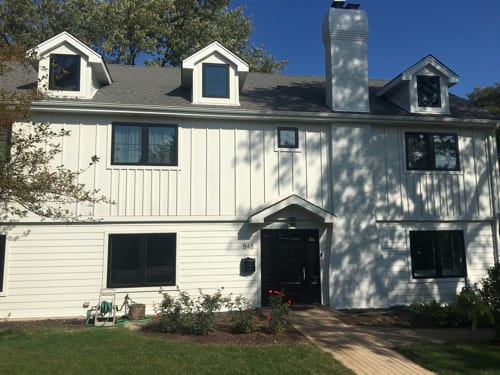 Residential house with the new exterior after siding installation in Hinsdale